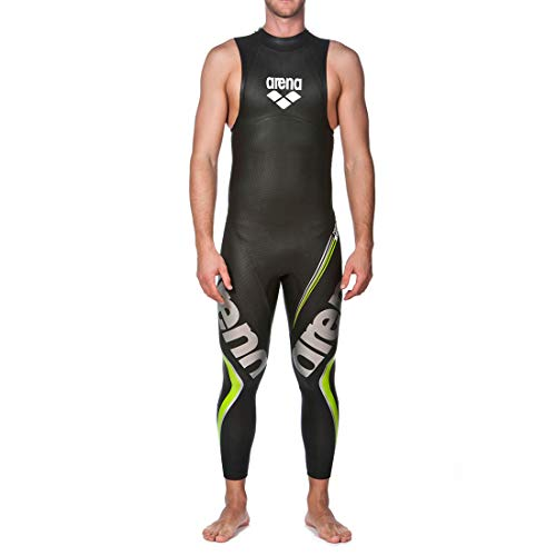 arena Herren Profi Wettkampf ärmelloser Neoprenanzug Carbon (Optimale Wasserlage, Mehr Bewegungsfreiheit), Black (50), XL