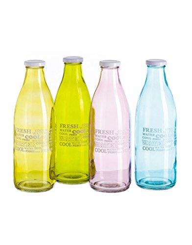 Botella de Cristal con Tapa de Rosca de Hogar y Mas - Amarillo