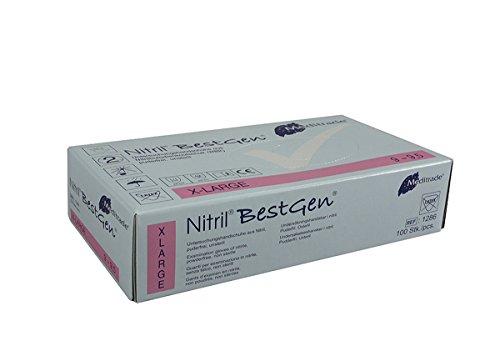 Meditrade 1286XL Nitril BestGen, 1er Pack (1 x 100 Stück), XL (9-9,5)