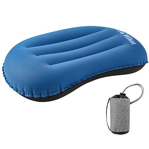 Terra Hiker Aufblasbares Kissen, Camping Kopfkissen, Ultraleichtes Luftkissen, Kompaktes Aufblaskissen für Reisen, Strand, Fliegen