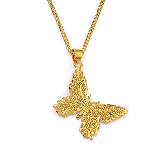 Charm Butterfly Collares de cadena con colgante para mujeres...