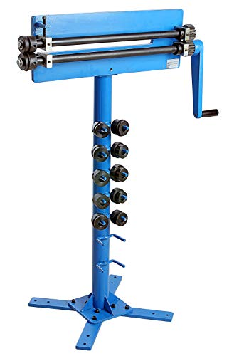 Pro-Lift-Werkzeuge Bördelmaschine + Standfuß Sickenmaschine Bördelgerät 6 Paar Sicken-Walze Handbetrieb Stahlbiegemaschine Sickenrolle bördeln manuell Biegemaschine Bördelapparat Wulstmaschine