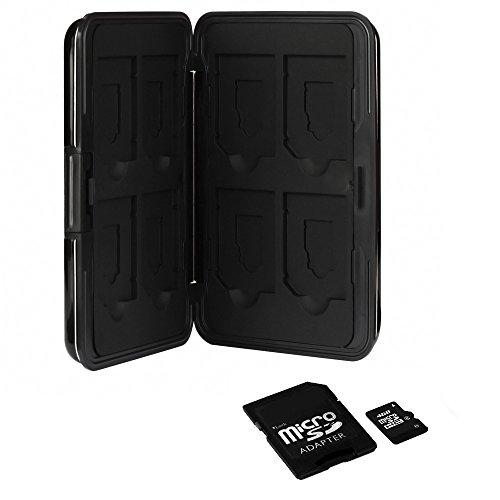 Anpro Wasserdicht Schutzbox für Speicherkarte 8x SDHC / SDXC / Micro-SD-Speicherkarten memory card, schwarz, MEHRWEG