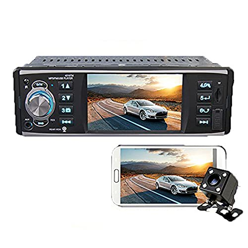 Boomboost Autoradio 4 Pouces Bluetooth Mains-Libres MP5 Lecteur Inverse Support Voiture stéréo + caméra arrière