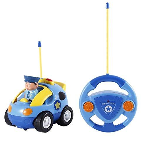 Brigamo ✋ Ferngesteuertes Auto Polizeiauto Kleinkinder Rennauto Spielzeugauto Kleinkind Spielzeug mit Licht und Sound ✋