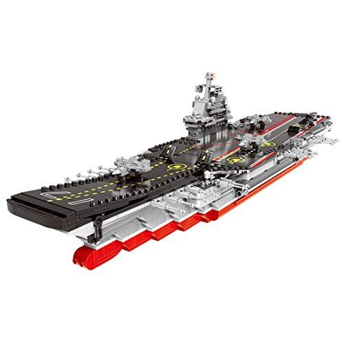 Gedar Porte Avions Jouet, Bateau de Guerre Ensemble de Blocs de Construction, Navires Modèle de Bloc de Construction, 1379 Pièces Compatible avec Lego Bateaux de Guerre