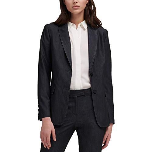 DKNY Womens Suit Separate Professional Two-Button Blazer Navy XS