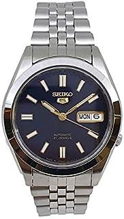 Seiko 5 automatic 21 Jewels Calendar blue dial Stainless steel watch  SNXB67J_5