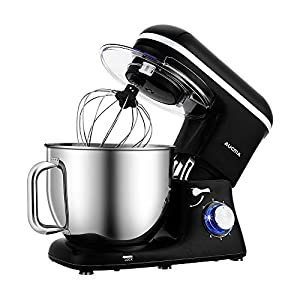 Aucma Stand Mixer,7L 6-Speed Tilt-Head Food Mixer, Electric Kitchen Mixer with Dough Hook, Wire Whip & Beater