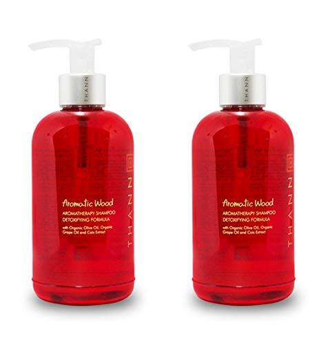 THANN Aromatic Wood Aromatherapy Shampoo-Detoxifying Formula 250 ml. (2 Pack)