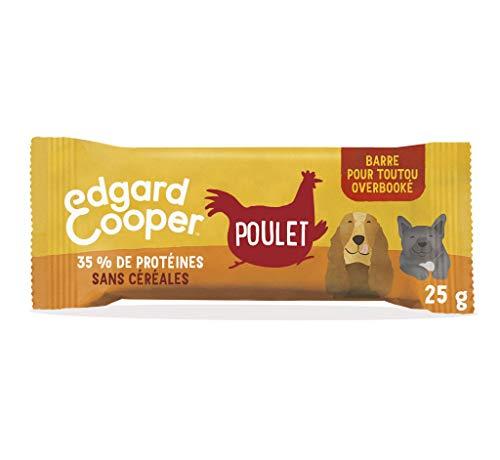 Edgard & Cooper Leckerlis Snack Hund Proteinee Riegel Natur ohne Getreide Taschentüte Huhn frisch 25 g voller Energie für ab Abenteuer