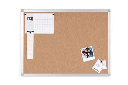 BoardsPlus Prikbord van kurk met aluminium frame 60 x 45 cm