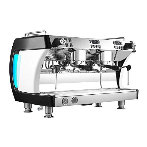 ZJINHUI Máquina de café exprés Máquina de café Máquina de café semiautomática y Comercial Máquina Profesional,Negro