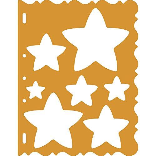 Fiskars ShapeCutter Schablone, Schablone zum Erstellen von Sternen, 1003828