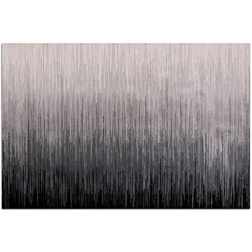 HLD Grijze reeks woonkamer slaapkamer nachtkastje tapijt theetafel mat Tapijtpads (Color : A, Size : 80cm*150cm)