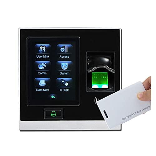 Máquina de tiempo de asistencia Electrónica TCP/IP USB Biométrico Tiempo de acceso a huellas dactilares Tiempo de asistencia registradora Sistema de control de puerta inteligente independiente