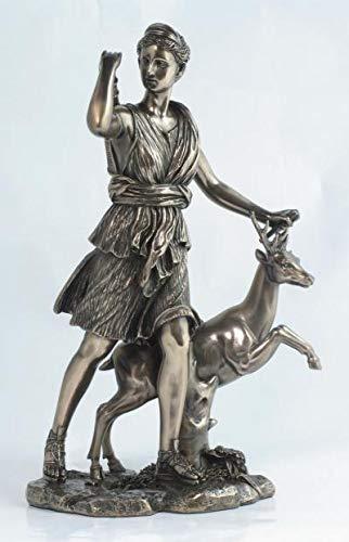 PALAZZO INT Diana Artemis bei der Jagd Veronese Collection Bronziert WU71397A1 28 cm