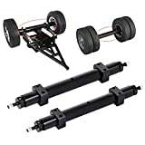 Rear Wheel Axle,YZtree 140MM Metal Non-Powered Rear Axle for TMY 1/14 Series RC Trailer Truck Car Upgrade Accessory