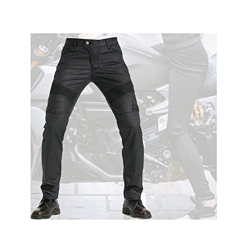 Windproof and Motorcycle Pants Men' s Riding Pants Waterproof Coating, Easy to Deal with Various Riding Environments (Color : Black, Size : XX-Small)