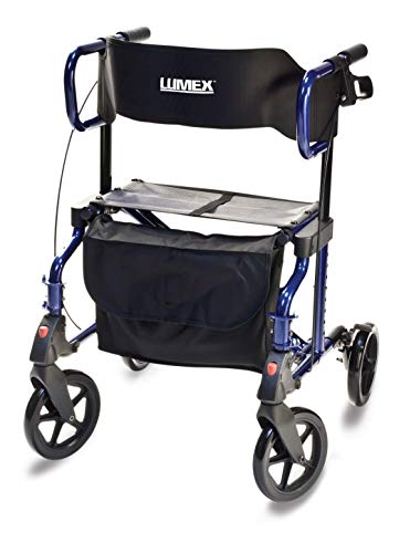 Lumex Lightweight Hybrid Rollator Transport Chair