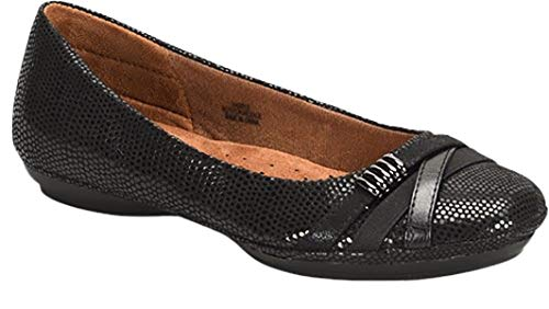Eurosoft Women's Shaina Black Lizard 9.5 B(M) US