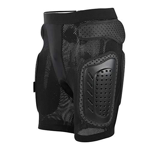 Naroote Morbido equipaggiamento Protettivo S/M/L/XL Protezione dell'anca da Ciclismo, fondello da Sci, Spugna + skiroll in plastica(Black S)