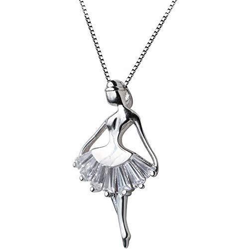 Collana bambina in argento sterling 925 con pendente ballerino di danza classica