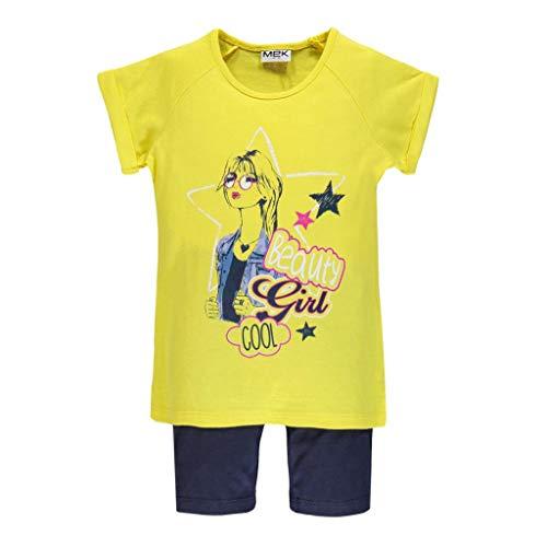 MEK Baby Girls Leggings Tinta Unito Jersey Stretch Carbon Peach