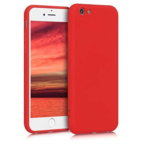 kwmobile Cover Compatibile con Apple iPhone 6 / 6S - Custodia in Silicone Effetto Gommato - Cover Back Case Protezione Cellulare - Rosso