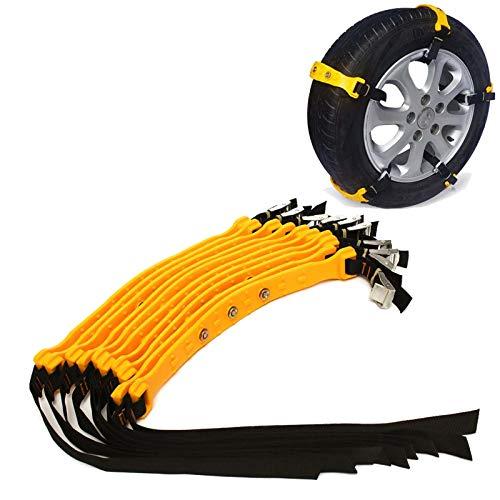 ZPFQFC 10 stücke Universal Plastic Winter-Reifen Räder Schneeketten, Verstellbarer Schutzschutz-Sicherheits-Snap-Skid für Autos/SUV Autoklassen im Freien