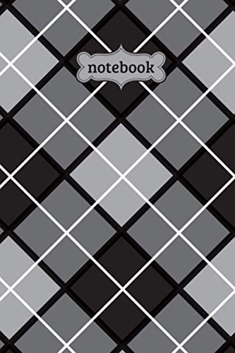 Notebook: Argyle Check Plaid Flannel Lumberjack Pattern Journal - Lined Journal & Diary for Writing Taking Notes (6