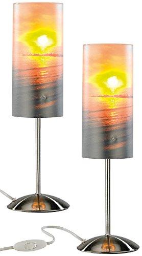 Your Design Nachttischlampen: Individuelle Tischlampe bedruckbar mit Ihrem Lieblingsfoto, 2er Set (Foto-Lampe)