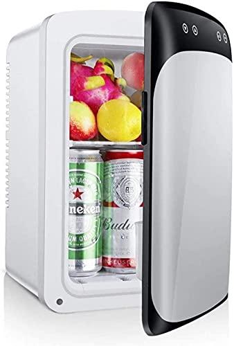 Refrigerador portátil de doble núcleo con mini nevera clásica de 15 litros con termostato digital de refrigeración y horno de autoclave AC/DC