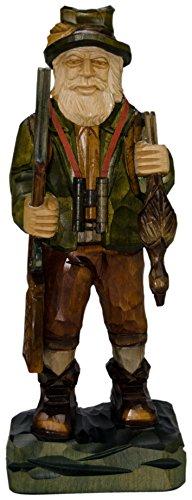 mumba Holzfigur Jäger 34 cm handgeschnitzt aus Lindenholz