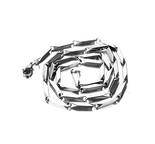 Aeici Collar Hombre Cadena Bambú Collar para Hombres Oro Largo 55 Cm