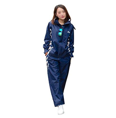 RUIX Regenmantel Regenhose Anzug Fashion Riding Adult Outdoor Wandern Regenjacke,XXXL