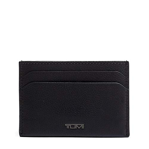TUMI - Nassau Money Clip Card Case Wallet with RFID ID Lock for Men - Black Texture
