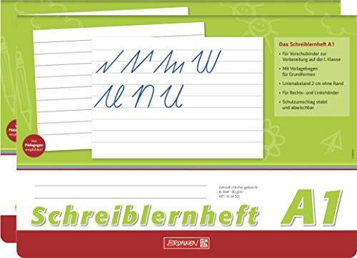 Brunnen Schreiblernheft (2 Hefte, Lineatur A1)