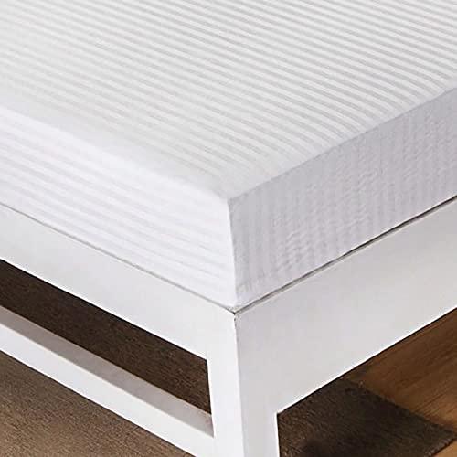 Dalina Textil Coprimaterasso per letto da 150 x 190 x 25 cm, in poliestere con cerniera