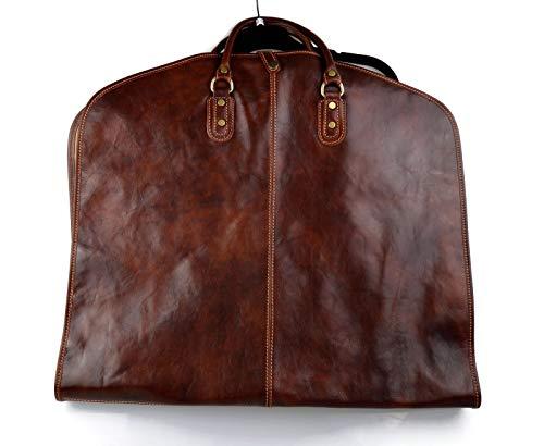 Porta abiti borsa da viaggio porta abiti in pelle borsa porta indumenti borsa porta abiti borsa porta indumenti con manici marrone