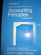 VOLUME II STUDY GUIDE CHAPTERS 15-28 FOR USE WITH ACCOUNTING PRINCIPLES FOURTH EDITION; (HERMANSON,EDWARDS, AND SALMONSON)