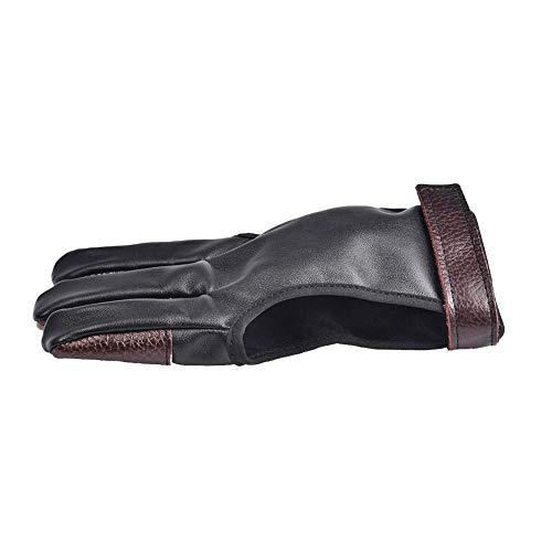bouncevi Guante tradicional de tiro con arco, 3 guantes de protección de dedos para niños, jóvenes, adultos, principiantes. reliable