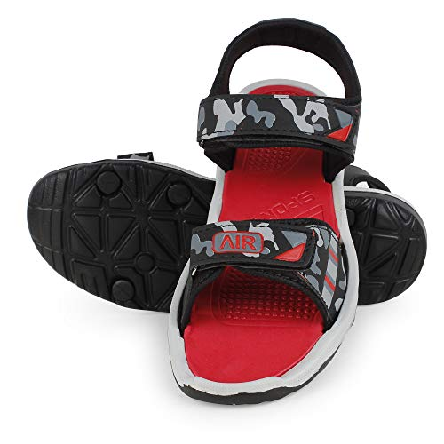 Longwalk Men & Boys Sandals, Casual Sandal, Walking, Lightweight Floaters Multi Color Red