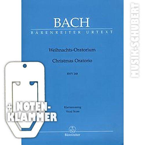 Weihnachtsoratorium BWV 248 Klavierauszug inkl. praktischer Notenklammer - Das bekannte Chorwerk in der Bärenreiter Urtext Edition (Taschenbuch) von Johann Sebastian Bach (Noten/Sheetmusic)