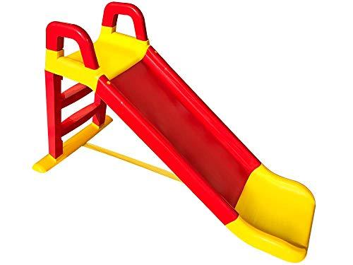miwido Rutsche , eine kleine Rutsche , Spaß für Kinder, Sehr hübsch Kinderrutsche, Stabil Rutsche (Rot Gelb)
