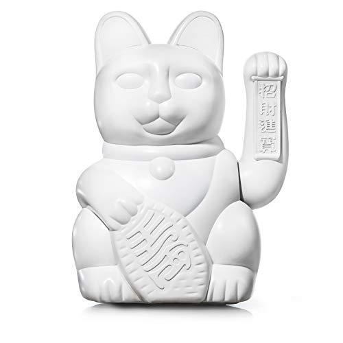 DONKEY Productos: Gato de la suerte grande, color blanco, gatito grande de color blanco, gato decorativo en diseño japonés Maneki Neko, 30 cm de alto