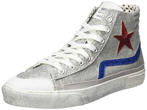 Replay Damen Ever W-WELSEY Hohe Sneaker, Silber (Silver Royal 147), 39 EU