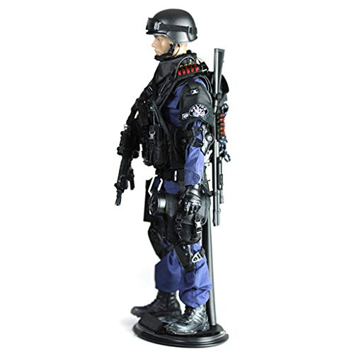 Homyl 1/6 12 '' Action Figure Los Angeles SWAT Forward Attacker Combat Model Toy