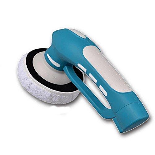 Polisseuse électrique sans fil pour voiture avec batterie rechargeable, brosse à récurer électrique pour meubles, sol, salle de bain et cuisine avec 3 brosses