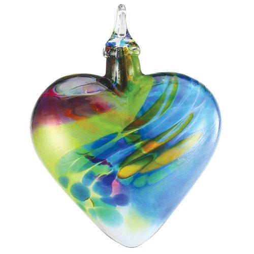 Glass Eye Studio Hand Blown Glass Heart Ornament - Chameleon